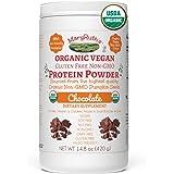 ORGANIC PROTEIN POWDER Plant-Based (Creamy Chocolate Fudge) by MARYRUTH Vegan, Gluten Free, Non-GMO, Soy Free, Dairy Free, Nut Free, No Fillers, No Additives, Paleo Friendly 14.8 oz For Men & Women