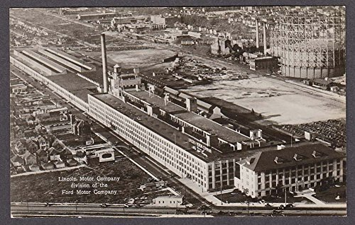 Lincoln Motor Company >> Lincoln Motor Company Division Of Ford Detroit Mi Rppc