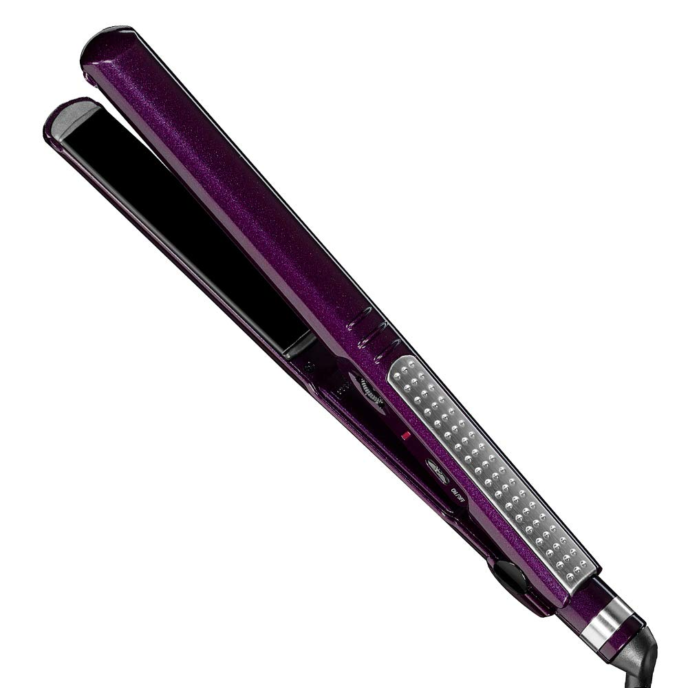 InfinitiPro by Conair Tourmaline Ceramic Flat Iron, 1-inch, Purple by Conair
