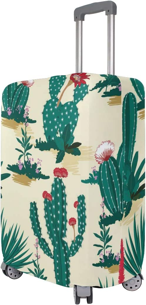 Baggage Covers Green Cactus Desert Red Flowers Washable Protective Case