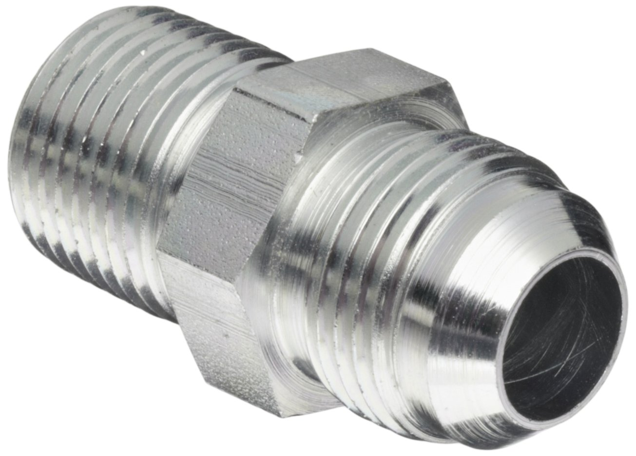Eaton Aeroquip 2021-8-10S Male Connector, Male 37 Degree JIC, Male Pipe Thread, JIC 37 Degree & NPT End Types, Carbon Steel, 1/2 NPT(m) x 5/8 JIC(m) End Size, 5/8'' Tube OD (Pack of 4)