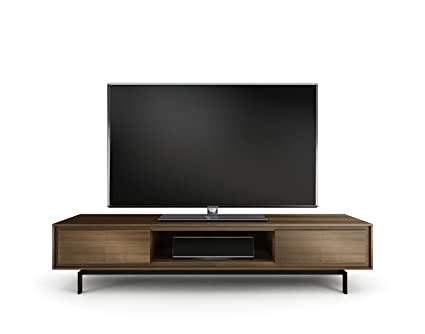 Attirant BDI Signal 8323 Low Profile Triple Wide Entertainment Cabinet, Natural  Walnut