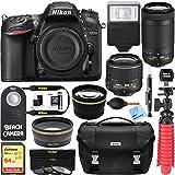 Nikon D7200 24.2MP Digital SLR Camera with AF-P 18-55mm VR & 70-300mm Lens Deluxe Accessory Bundle