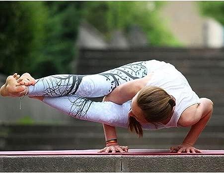 IYU_Dsgirh Pantalones Yoga Mujeres Patrón de árbol Leggings Pantalones Largos Deportivos para Mujer