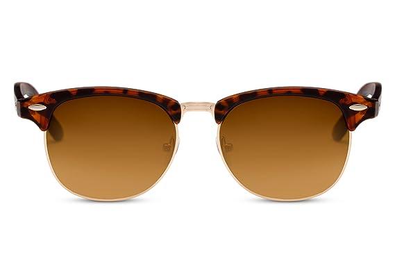 Cheapass Gafas de Sol Marrones Leo Leopard Retro Mujer y Hombre