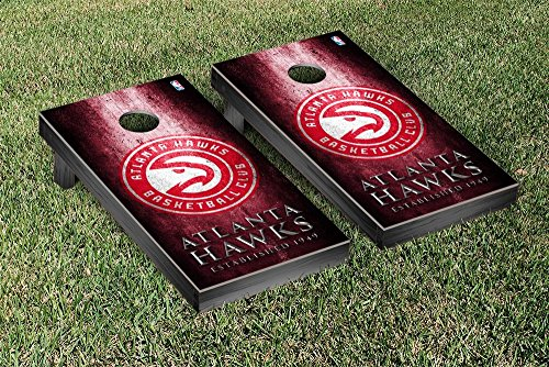 Atlanta Hawks NBA Basketball Regulation Cornhole Game Set Museum Version by Victory Tailgate