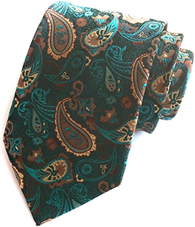1 x quality mens jacquard silk tie wedding birthday business party green new