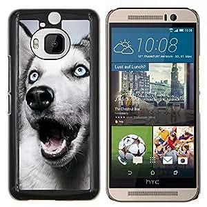 LECELL--Funda protectora / Cubierta / Piel For HTC One M9Plus M9+ M9 Plus -- Husky siberiano Blue Eyes White Dog --