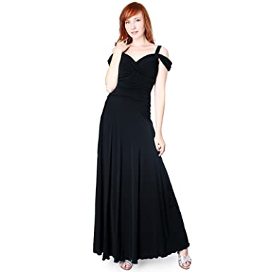 Amazon Evanese Womens Elegant Slip On Long Formal Evening
