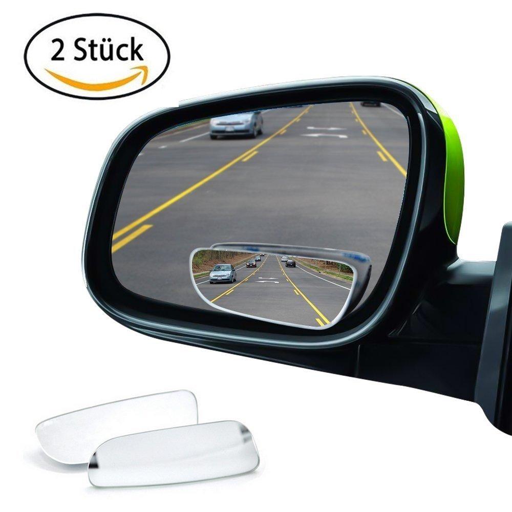 Aisw Toter Winkel Spiegel, HD Glas 360 Weitwinkel Runde Konvex Spiegel Auto Fahrzeug Seite Blindspot Blind Spot Spiegel Long RearView Spiegel (2)