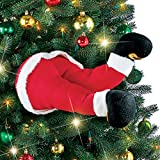 Santa and Elf Christmas Tree Legs Decoration Santa
