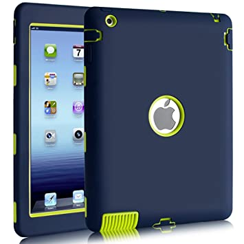 on sale d22e6 141c6 BENTOBEN Shockproof Case for iPad 2 / iPad 3 / iPad 4, Heavy Duty Rugged  Shock-Absorption High Impact Resistant Hybrid Full Body Protective Case for  ...