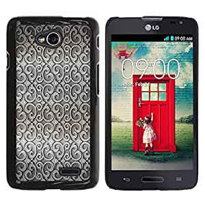 Qstar Arte & diseño plástico duro Fundas Cover Cubre Hard Case Cover para LG Optimus L70 / LS620 / D325 / MS323 ( Wallpaper Design Interior Grey Wallpaper)