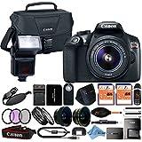 Canon EOS Rebel T6 18MP Digital SLR Camera Retail Packaging 24 Piece Bundle (18-55mm IS II)