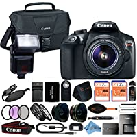 Canon EOS Rebel T6 18MP Digital SLR Camera Retail Packaging 24 Piece Bundle (18-55mm IS II)