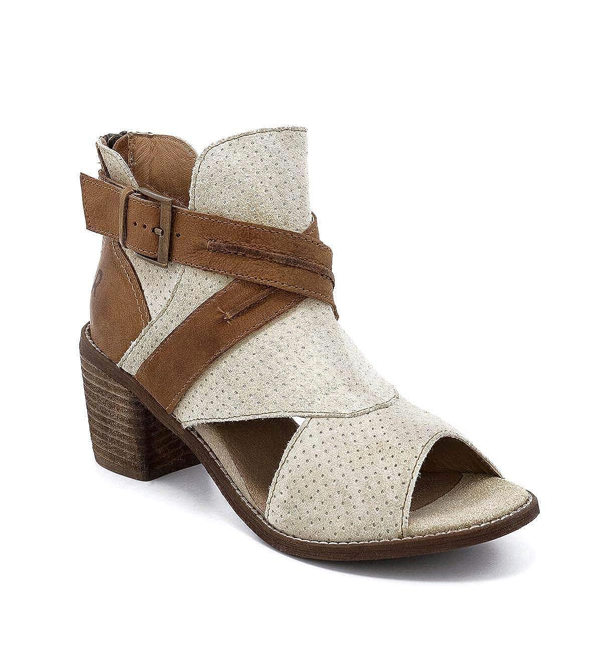 Natalie Leather Wedge, Beige, Size 6.0