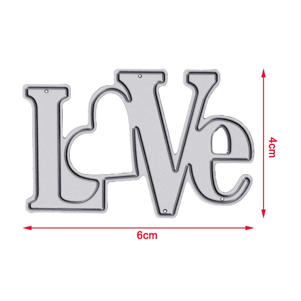 Acciaio al carbonio Fafalloagrron Love fustellatrici stampini DIY album di scrapbooking Paper