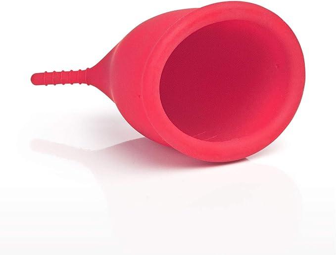 Gleitzeit® Copa menstrual Premium para menstruación de silicona médica como alternativa higiénica al tampón y compresas (25 ml)