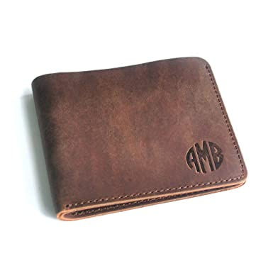 addd799337031 Image Unavailable. Image not available for. Color  Personalized Monogram Men s  Leather Wallet ...