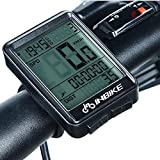 Wiiguda INBIKE Cycling Computer, Wireless Waterproof Bike Odometer and Speedometer Speed Tracking, Trip Time/Distance Recording for Cycling tracker LCD Screen with Backlight Outdoor Exercise Tool