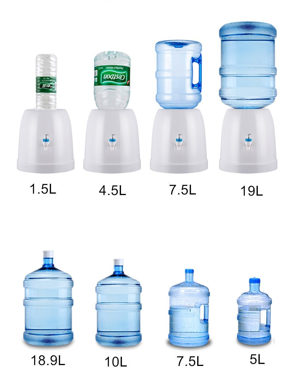 Fecihor Water Dispenser with Tap Drinking Fountain without Power Suitable for Various Gatherings,Travel,Home