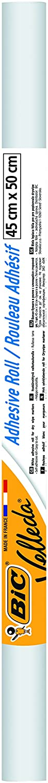 Blanc x1 BIC Velleda Rouleau Adh/ésif Effa/çable /à Sec 45x50 cm