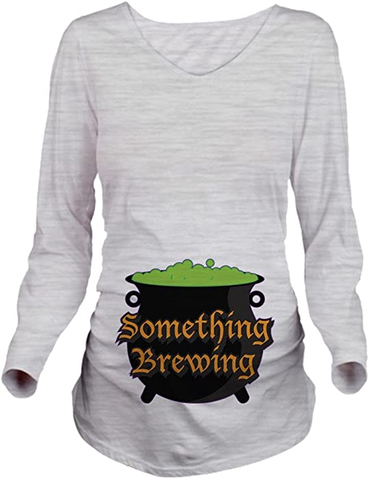 ab0f50c857908 CafePress Halloween Something Long Sleeve Maternity T-Shirt