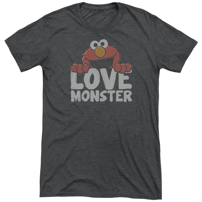 Sesame Street Men's Love Monster Tri-Blend T-Shirt