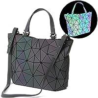 HotOne Geometric Luminous Purses and Handbags Shard Lattice Eco-Friendly Artificial Leather Rainbow Holographic Purse