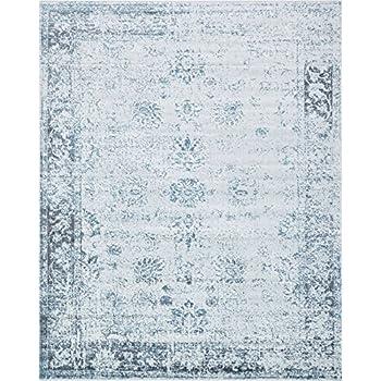 Amazon Com Traditional Persian Vintage Design Rug Blue