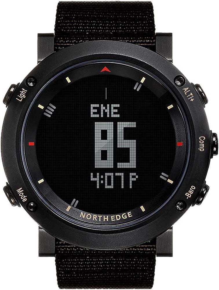NORTH EDGE Reloj Militar Deportivo para Hombres Reloj LED ...