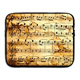 Vintage Musical Notes Laptop Bag, 15 Inch Notebook Briefcase Laptop Sleeve Bag Cover For 15 Inch Inch Ultrabook / Lenovo Dell / MacBook Pro / Macbook Air,Travel,Business,College