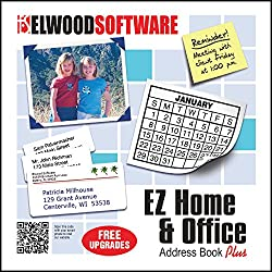 EZ Home and Office is easy to use address book software for home and business. Any number of names and categories can be added and adding a name is simple and straightforward. The city and state are automatically filled in when a zip is entered and p...
