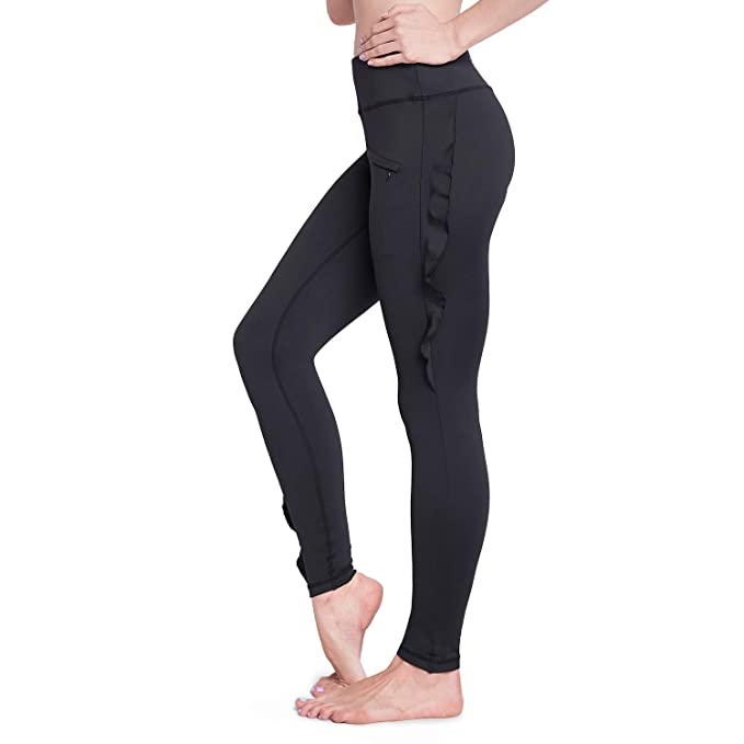 Raypose Women Yoga Pants with Pockets,Yoga Comfy Pants, High Waist Leggings, Fashion Yoga Dance Pants Black