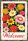 Toland Home Garden Off-White Welcome Bouquet 28 x 40 Inch Decorative Spring Summer Flower House Flag