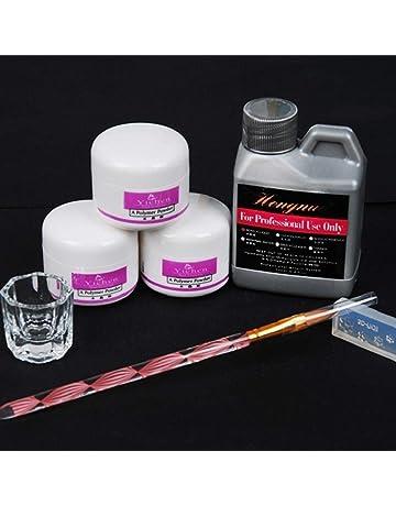QUICKLYLY Uñas/Manicura-Pro Simply Nail Art Kits Líquido En Polvo Pluma Dappen Plato