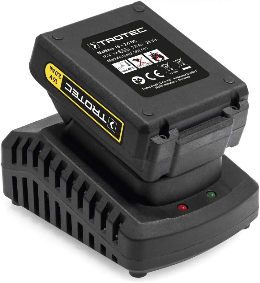 TOTEC Compresseur portatif PCPS 10-16V 16 V puissant Batterie lithium-ion sans effet m/émoire et sans autod/écharge Pompe /à air sans fil PCPS 11-16V