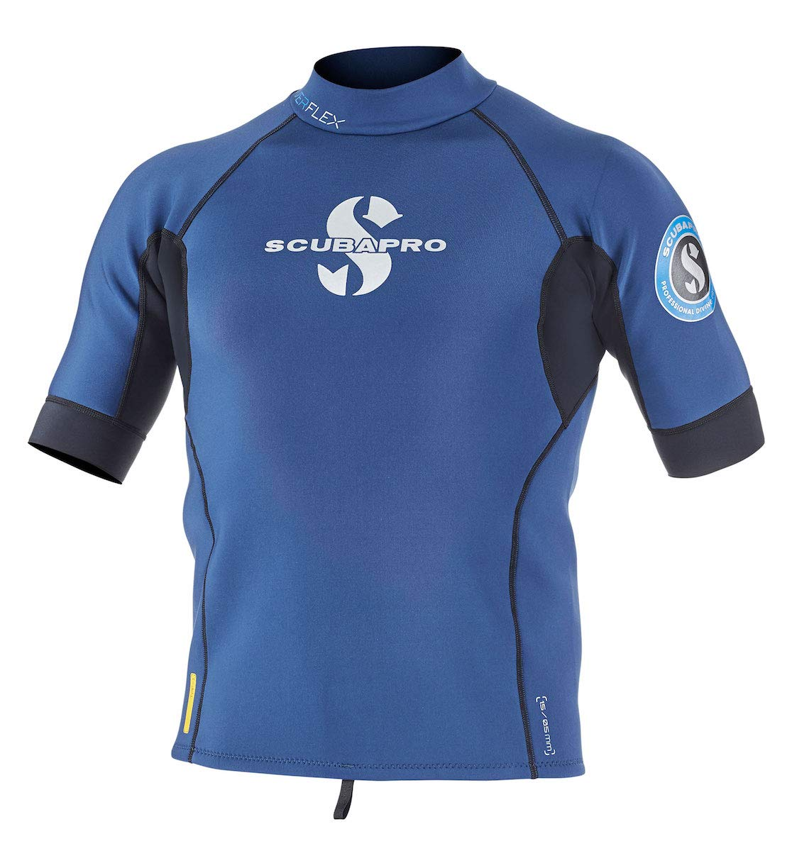 Scubapro Men's 1.5mm Everflex Short Sleeve Rash Guard (Aegean, Medium) by Scubapro (Image #1)