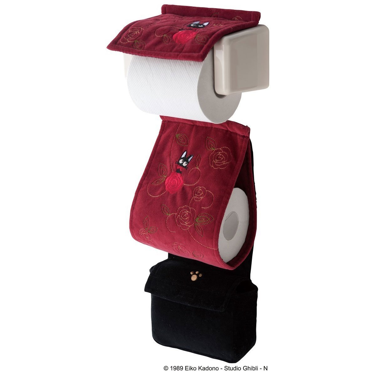 Senko Kiki's Delivery Service Toilet Paper Holder w/Paper Stock Holder & Small Bag Rose Bouquet
