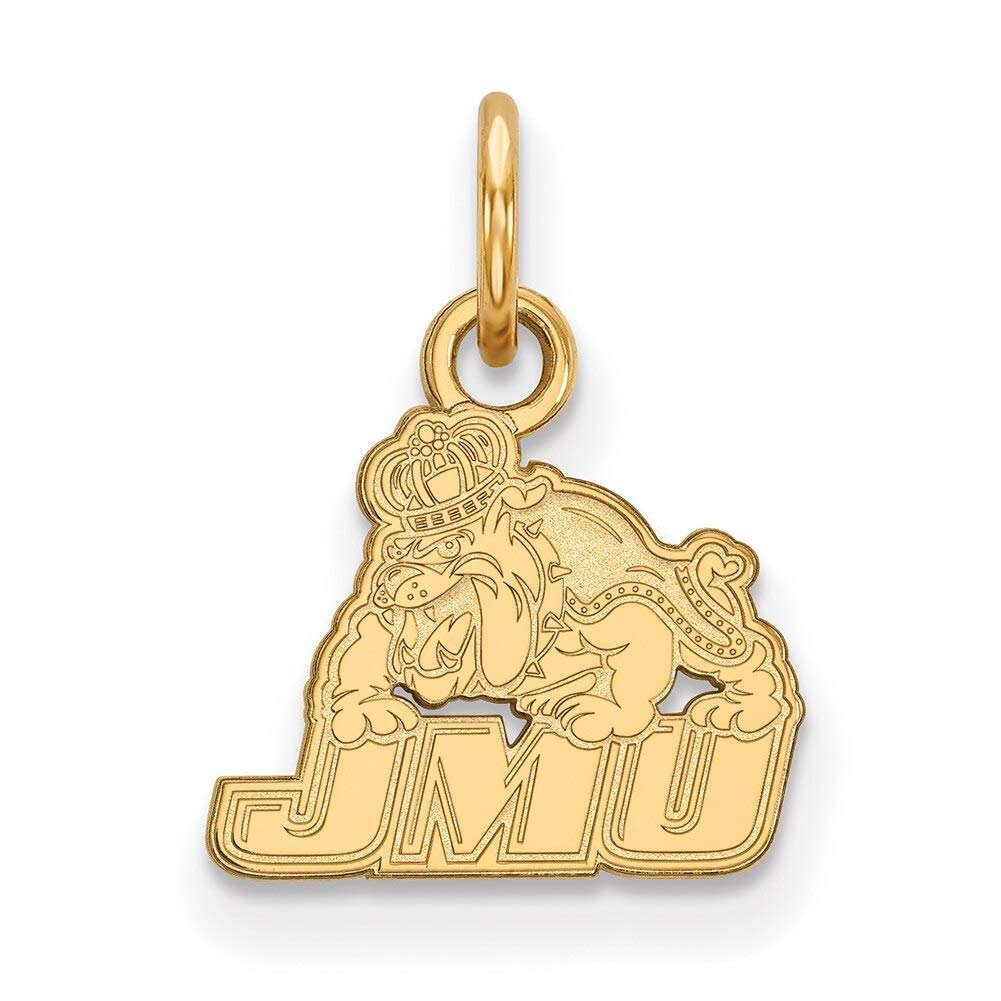 Lex /& Lu LogoArt 14k Yellow Gold James Madison University XS Pendant