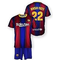 Conjunto Camiseta y pantalón Replica FC. Barcelona 1ª EQ Temporada 2020-21 - Producto con Licencia - Dorsal 22 Ansu Fati…