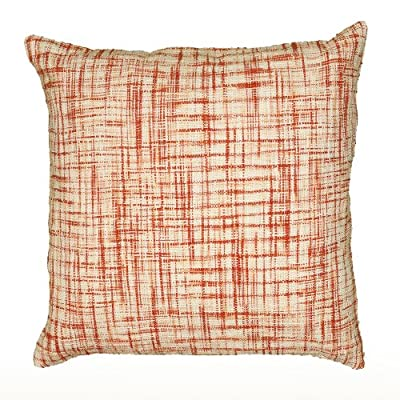 Rizzy Home T06525 Woven Cotton Pattern on Two Sides Decorative Pillow, 22 by 22-Inch, Orange - Pillow Cover with Hidden Zipper Front/Back: 100% Cotton Woven Cotton Pattern on two Sides - living-room-soft-furnishings, living-room, decorative-pillows - 61fQi4CTISL. SS400  -