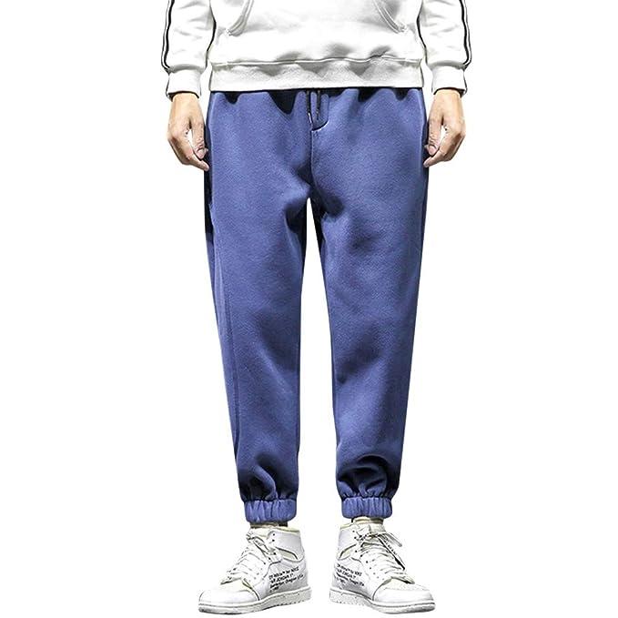 Vectry Pantalones Hombre Hombre Casual Tallas Grandes Suelto Color ...