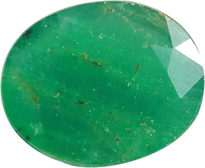 Jaipur Gems Mart 6,70 Quilates Octagon Corte Rico Verde Buen Lustre de Zambia Verde Esmeralda Pieza para Hacer la joyería, Pendiente de la Esmeralda, la curación de Piedras Preciosas
