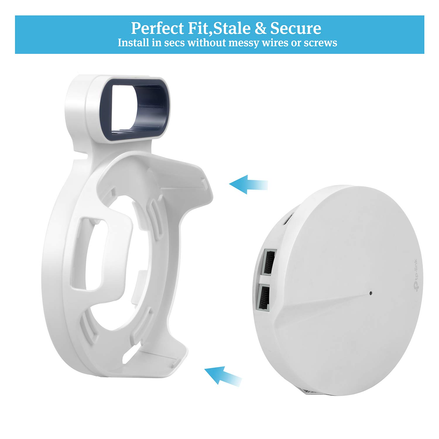 Sturdy Bracket Holder for TP-Link Deco M5 Space Saving TP-Link Router Wall Holder Plug in Without Messy Wires or Screws STANSTAR Wall Mount for TP-Link Deco M5 Whole Home Mesh WiFi System