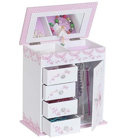 d71d4b7a53a6 Mele & Co. Cristiana Girl's Musical Ballerina Jewelry Box (Ballet Slipper  and Ribbon Design)
