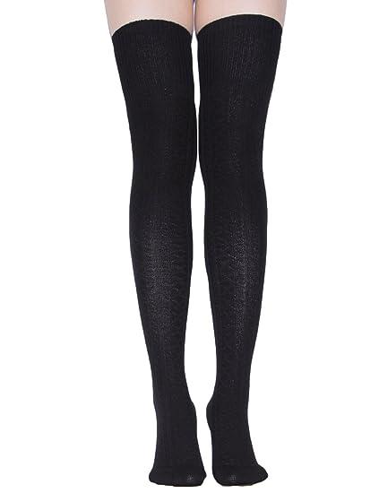 e10182aef40 TooPhoto Women Cotton Over Knee Thigh High Socks Leg Warmer Stockings Extra  Long A 1 Pair