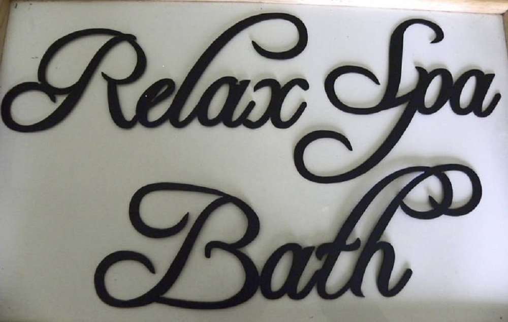 bathroom wall decor pictures. Amazon.com: Bath Set Words Spa, Bath, Relax Metal Wall Art Decor: Home \u0026 Kitchen Bathroom Decor Pictures