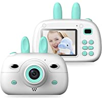 Kids Digital Video Camera Front and Rear Selfie 8MP Mini Rechargeable Children Camcorder, Shockproof Soft Cover 2…