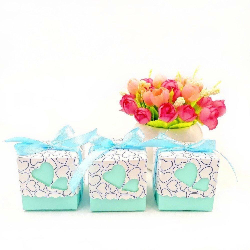 JZK 50 x favores cajas para la boda cumpleaños fiesta de bienvenida al bebé sagrada comunión fiesta de graduación navidad o varias ocasiones, ...
